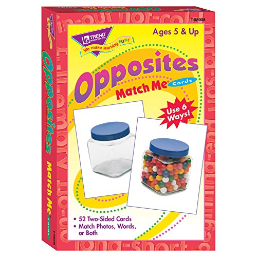 Trend Enterprises Opposites Match Me Cards Game (52 Piece) (Flash Opposites Cards)