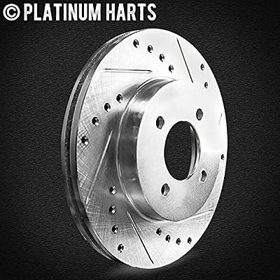 For 2008-2020 Audi S5, S4, Q5, SQ5 Rear HartBrakes Brake Rotors Kit+Ceramic Pads: Automotive