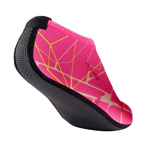 Water Sports Shoes, Inkach Unisex Yoga Surf Beach Snorkeling Socks Men/Women Swimming Diving Socks Swim Barefoot Skin Shoes Hot Pink