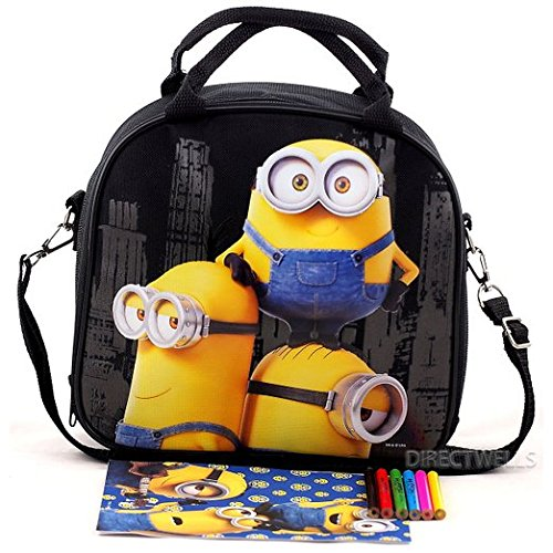 Licensed Despicable Me Minions Insulated Kids Lunch box Bag Food container Pail. (Halloween 3 Stop It)