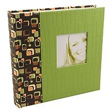 BorderTrends Rococo Spots 160-Pocket Photo Album, Green