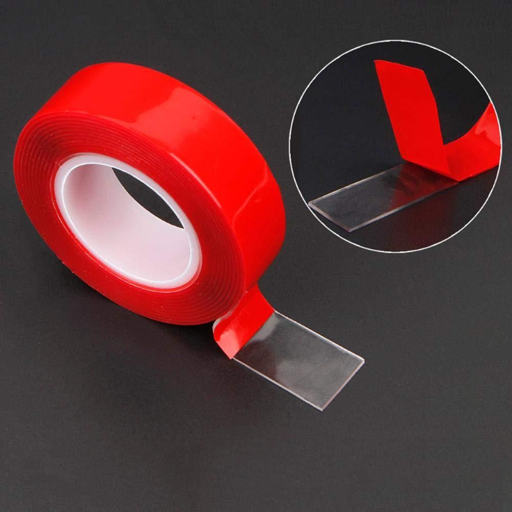 fissaggio auto riparazione telefono tablet non lascia tracce adesive per strisce led 3 m Asiproper 1 rotolo di nastro biadesivo in acrilico trasparente