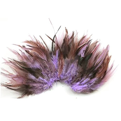 Used, Celine lin 100PCS Saddle Hackle Rooster Feathers Colorful for sale  Delivered anywhere in USA