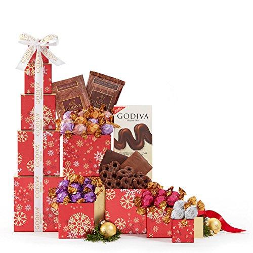 Wine Country Gift Baskets Godiva Milk and Dark Chocolate Tower
