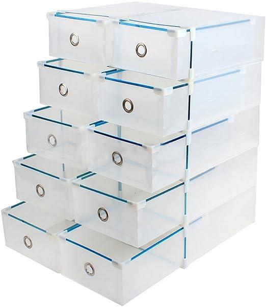 Organizador de 10 cajas de plástico apilables, de la marca Vinteky ...