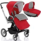 Inglesina - Quad Stroller with Bassinet - Sahara Red