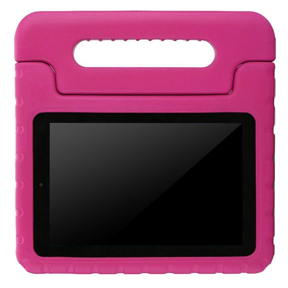 BMOUO Case for All New Fire 7 2017 - Light Weight Shock Proof Handle Kid-Proof Cover Kids Case for All New Fire 7 Tablet (7th Generation, 2017 Release), Rose