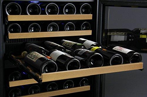 Allavino FlexCount 2X-VSWR56-1BWT 112 Bottle Dual Zone Wine Coolers - Side by Side - Black Doors by Allavino (Image #6)