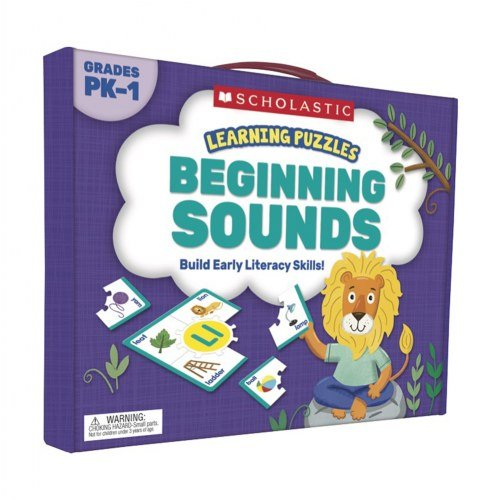 Scholastic Teacher's Friend Beginning Sounds Learning Puzzles, Multiple Colors (TF7151) -