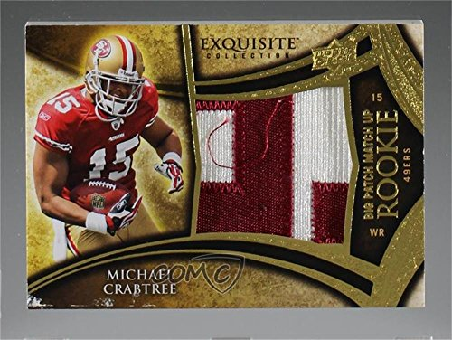 Michael Crabtree; Jeremy Maclin #/50 (Football Card) 2009 Upper Deck Exquisite Collection - Big Patch Match Up Rookies #MCJM