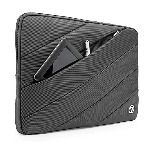 Business Laptop Sleeve Tablet Pouch Carrying Case 12.5 / 13.3 for Dell Inspiron 13 / Latitude 11 / Latitude 12.5 / XPS 13 / Inspiron 13 7000 / Inspiron 13 5000 / Latitude 13 (Black) grau