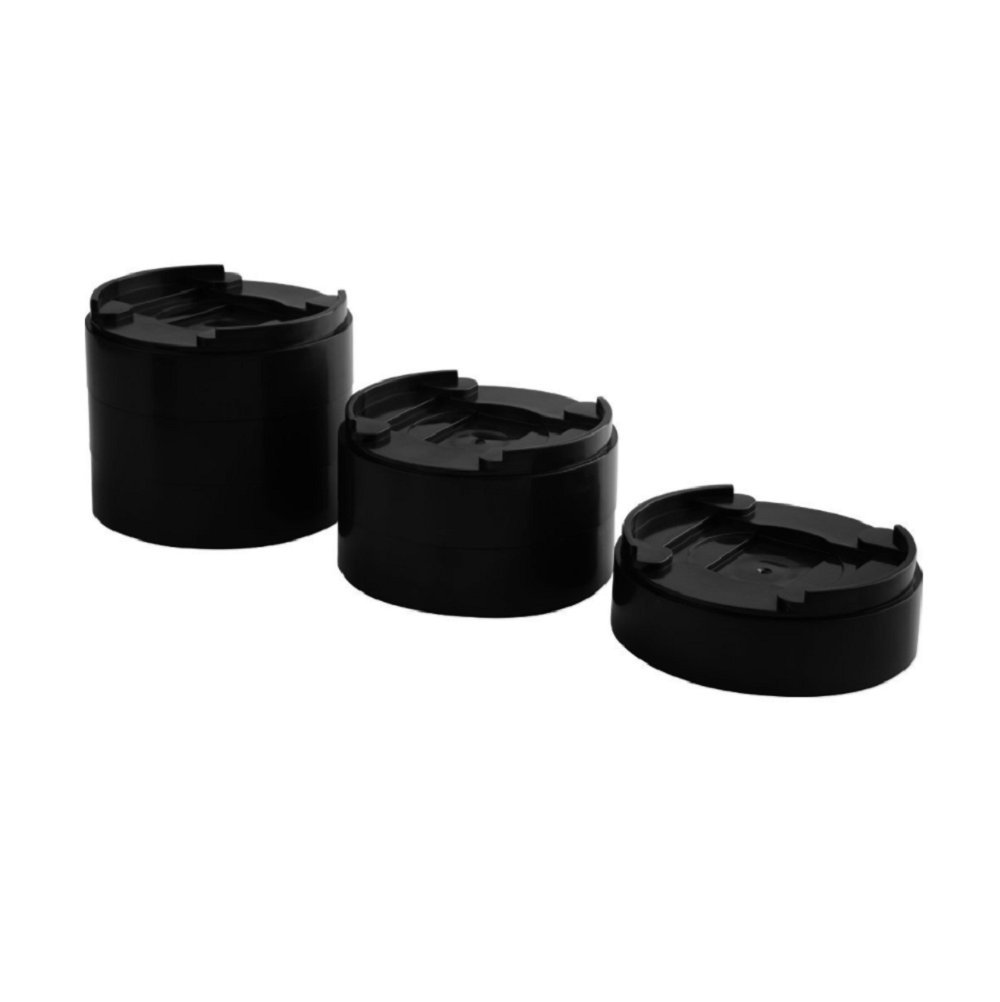 Niceclub Adjustable Bed Risers Table Risers Furniture Risers Under Bed Storage Heavy Duty Set of 8 Pieces Black Circle