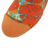 J'colour Womens Girl's Classics Lightweight Outdoor Casual Ankle Short Boot Socks 1 Pair  1 Pair Quirky Orange with Splatters  One Size
