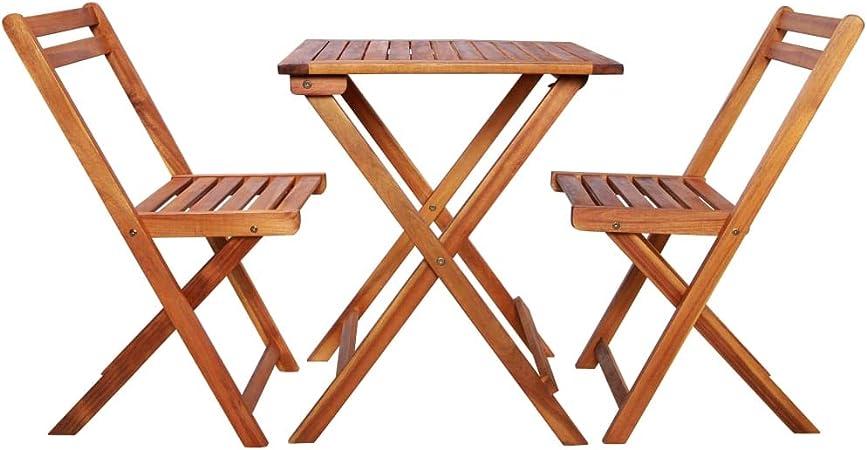Tavolo Da Esterno In Legno Pieghevole.Mewmewcat Set Tavolo E Sedie Da Giardino Pieghevoli In Legno Set