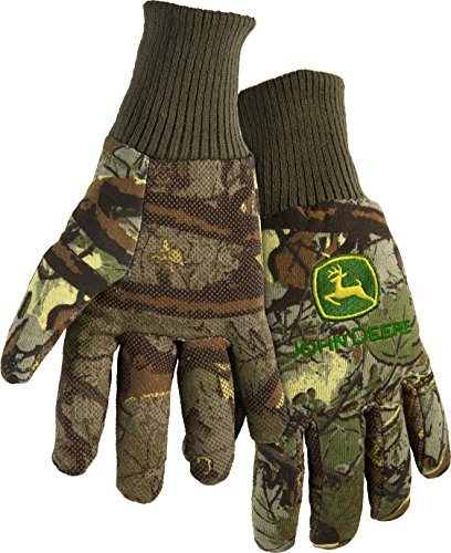 West Chester John Deere JD00001 Knit Polyester/Cotton All Purpose Work Gloves with Dotted Palms: Camo, One Size Fits Most, 1 Pair