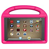 Fire HD 8 Tablet Case,Koantree Kid-Proof Shockproof Protective Stand Cover Case for Amazon Fire 8 Inch Tablet (7th Generation,2017 Release) or (6th Gen,2016 Release) (Pink)