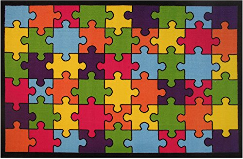 Fun Rugs Fun Time Jigsaw Puzzle Novelty Rug