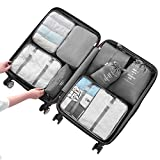 Travel Organizer Packing Cubes Compression Packing Bags (Gray)