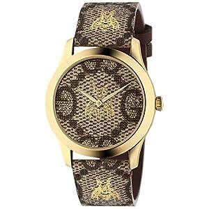Gucci YA1264068 BROWN STEEL 316 L Woman Watch