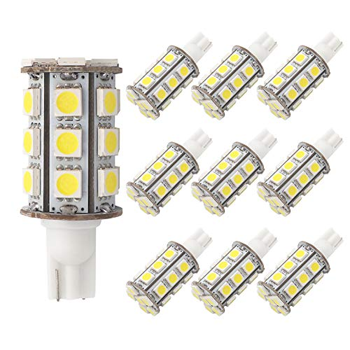 GRV T10 921 194 24-5050 SMD LED Bulb lamp Super Bright Cool White DC 12V Pack of 10