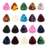 ZPS 20 Pcs 0.46mm Stylish Colorful Celluloid Guitar Picks Plectrums for Guitar Bass