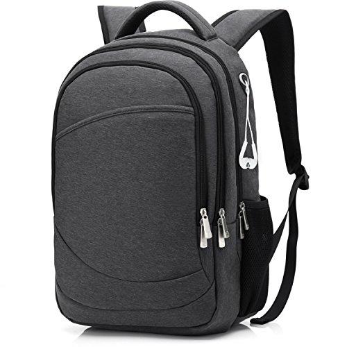 Travel Outdoor Computer Backpack Laptop Bag (Dark Grey) - 6