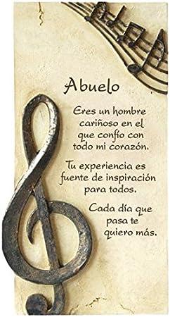 Framan PERGAMINO DE Piedra LABRADA con Textos para Ocasiones Especiales, Original Y ECONÓMICO. Especial Abuelo