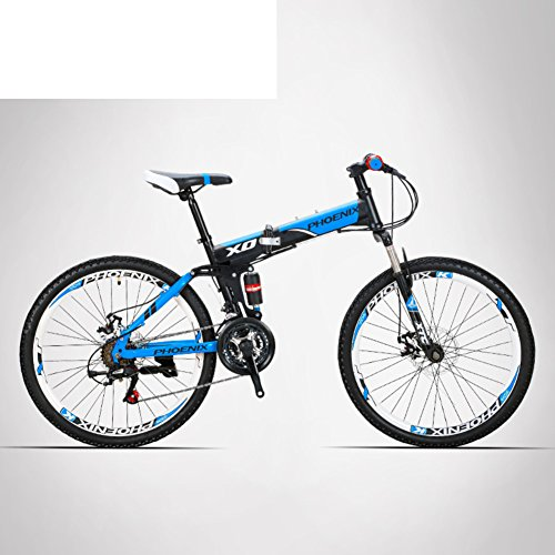 HIKING BK Travel bike 21-speed Folding mountain bike Off-roa