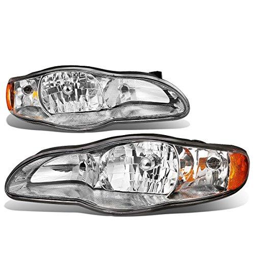 o 6th Gen v6 Pair of Chrome Housing Amber Corner Headlight Lamp ()
