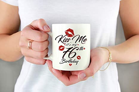 Kiss Me Its My 76th Birthday For Men And Women Funny Made In 1942 Gift