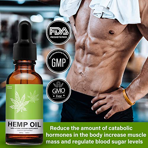 Hemp Oil Extract for Pain, Stress & Anxiety Relief - 5000 MG Sleep Support, Promotes Relaxation, Full Spectrum Extract Drops, Organic Natural Hemp Seed Oil, Rich in Omega 6, 9 Fatty Acids (30ml) by Mespirit (Image #5)