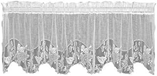 product image for Heritage Lace Birds & Berries 60-Inch Wide by 30-Inch Drop Tier, Ecru