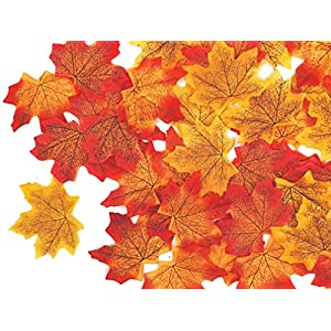 Felice Arts 500Pcs Artificial Maple Leaves,Assorted Mixed Autumn Fall Colored Leaves for Weddings, Party and Decorating 15