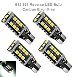 #9: 4pcs 921 912 W16W T15 T10 15SMD Chipsets LED Bulb, Canbus Error Free Bulbs Only for Backup Reverse Lights