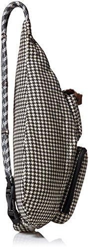 KAVU Rope Bag Cotton Shoulder Sling Backpack 3 Pockets: 1 interior zip, 3 exterior Pockets: 1 interior zip, 2 exterior