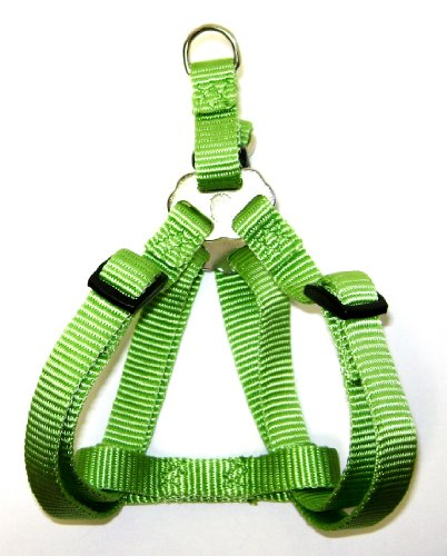 Hamilton Adjustable Easy-On Step-In Style Dog Harness, 1-Inch by 30-40-Inch, Large, Lime Green, My Pet Supplies