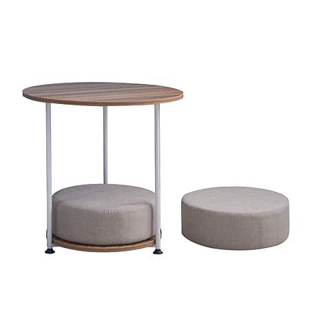 Amazon.com: Mesa de centro redonda pequeña, elegante y ...