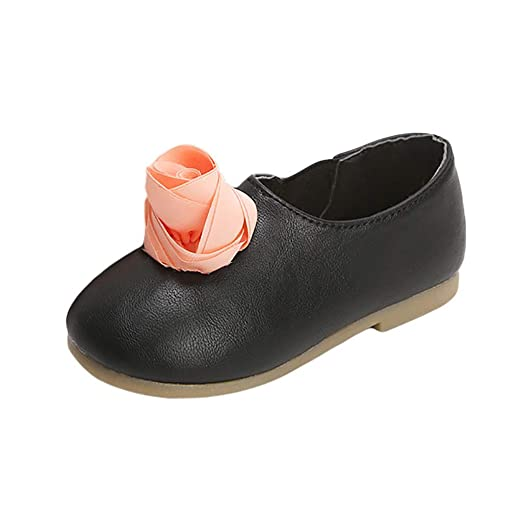 e1eb8fc61 Amazon.com  Baby Mary Jane FAPIZI Infant Boy Girl Big Flower Ornament Shoe  Toddler Non-Slip Casual Leather Shoes  Clothing