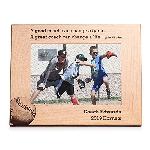 (Lifetime Creations Personalized Baseball Coach Softball Coach Picture Frame - Engraved Personalized Baseball Coach Frame, Softball Coach Gift )