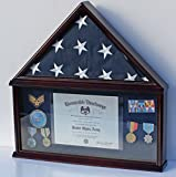 Elegant Memorial/Funeral Flag Display Case Storage Military Shadow Box, for Memorial Flag, FC07 (with NO Mat and Medallion)