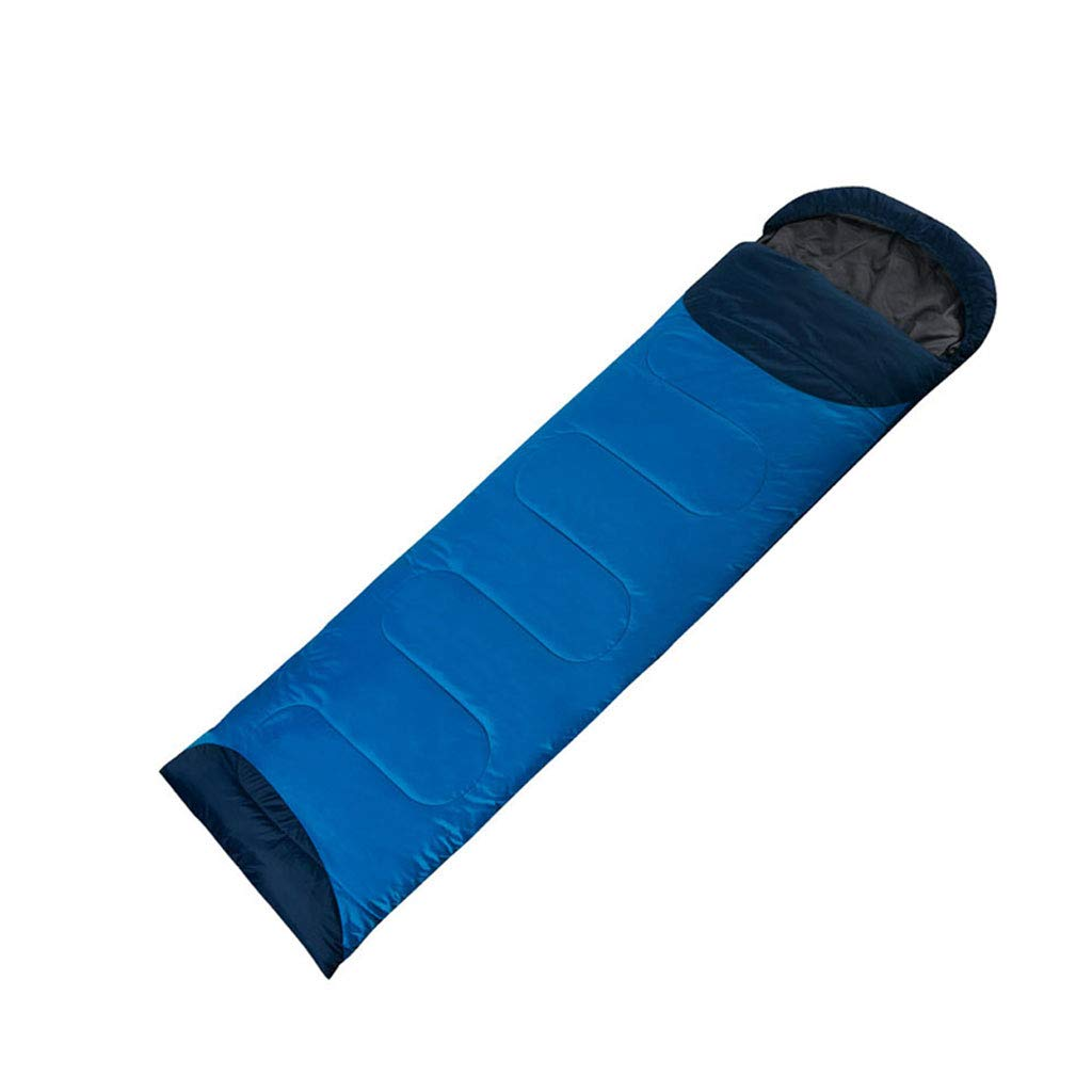 LCSHAN 寝袋ポリエステルファッションシーズン厚手暖かいキャンプトラベルダウンコットン (容量 : B, 色 : 青) B07L6D19FS 青 A A 青