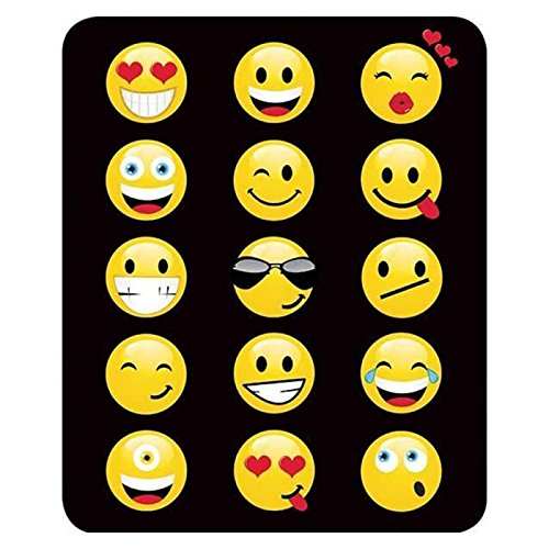 "Regal Comfort Fun Emoji Throw Blanket 45"" x 60"""
