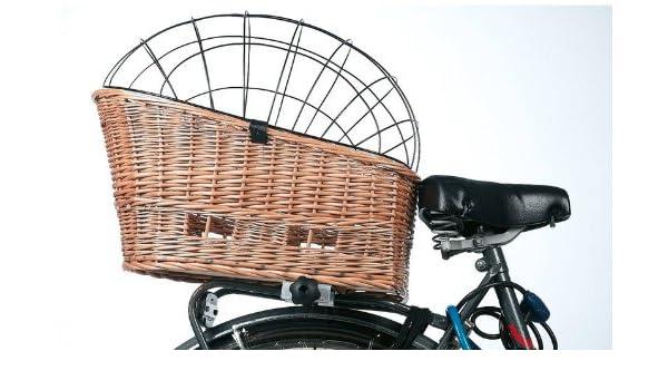 Sauce y bicicletas cesta perros cesta de bicicleta mimbre con ...