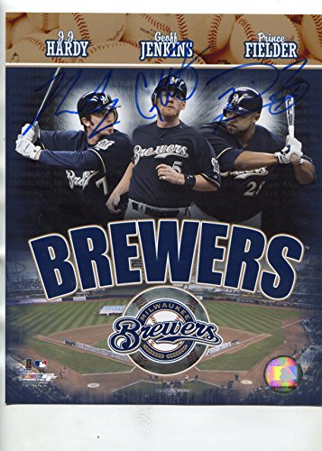 Hardy Milwaukee Brewers Photograph - PRINCE FIELDER, GEOFF JENKINS, JJ HARDY 2007 Milwaukee Brewers signed 8x10 photo / UACC Registered Dealer # 212