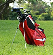 Super Light-Weight Golf Stand Bag for Easy Carry, Red