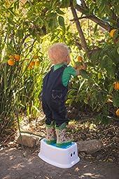 Go Tots Kids Portable Lightweight Step Stool, Blue