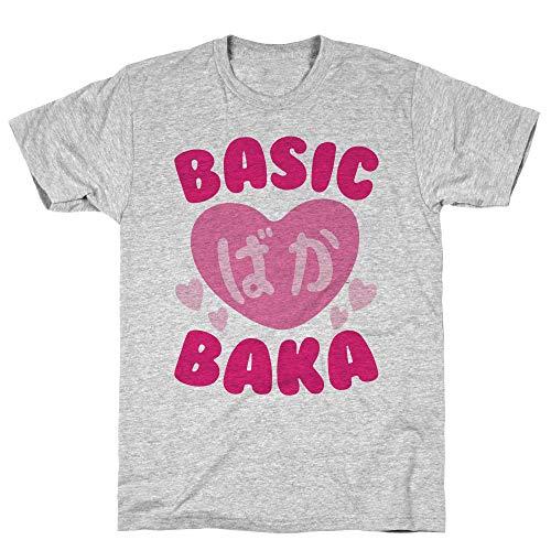LookHUMAN Basic Baka XL Athletic Gray Men's Cotton Tee