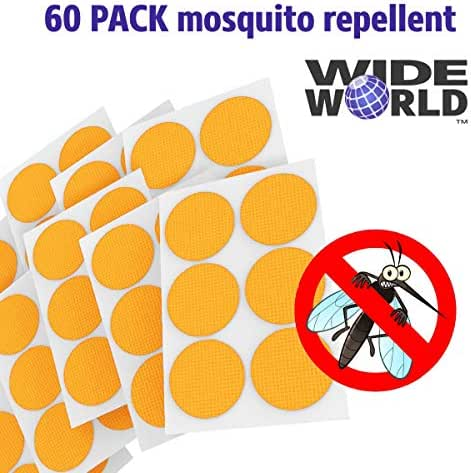 Wide World Mosquito Repellent Patches, Natural Fly Pest Control, Bug Repeller Patch, Anti Insect Stickers, Non-Toxic and Safe for Kids and Baby