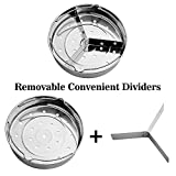 Aozita Steamer Basket Rack Set with Removeable Dividers for Instant Pot Accessories - Fits Instant Pot 5,6,8 qt Pressure Cooker with Streaming Recipe and Cleaning Cloth