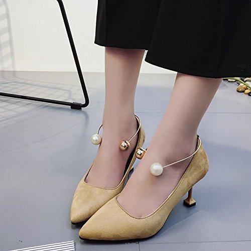 perla con poco bassa nuova scarpe unico scarpe donna La tacchi scarpe fine caduta di bocca opaco sottolineato con ZHZNVX Rosa ha 39 profonda Anello alti i xPnOpH1